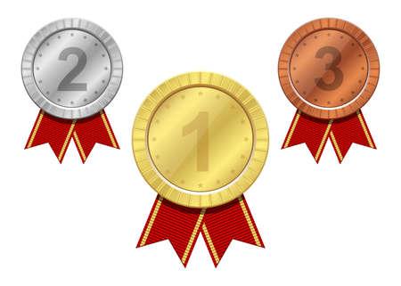 Winner medal vector design illustration isolated on white background Ilustración de vector