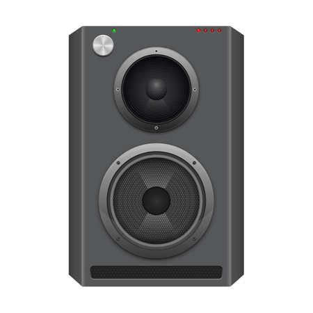 Audio speaker vector design illustration isolated on white background
