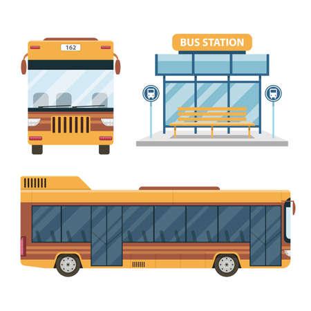 City bus vector design illustration isolated on white background Ilustración de vector