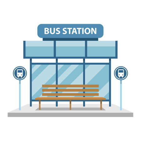 Bus station vector design illustration isolated on white background