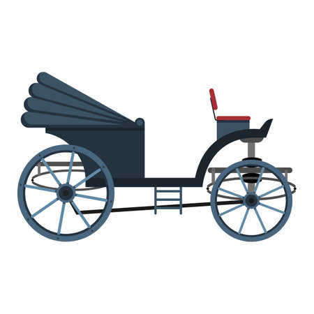 Retro carriage vector design illustration isolated on white background