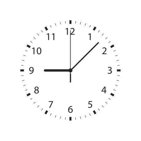 Clock vector design illustration isolated on background Vector Illustration