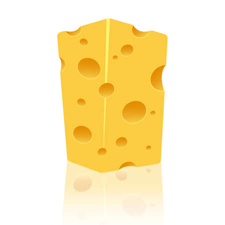 Cheese vector design illustration isolated on white background