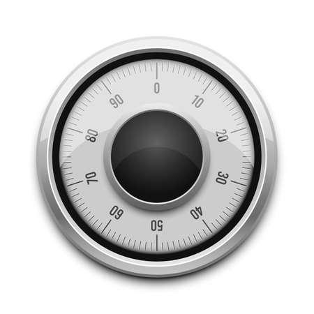 Safe combination lock vector design illustration isolated on white background