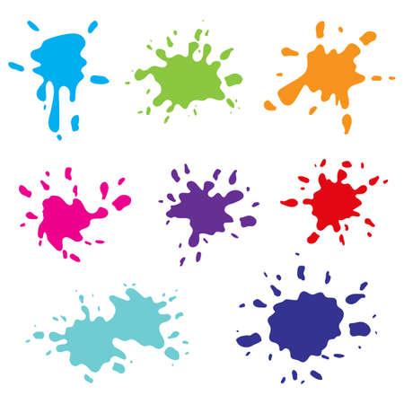 Paint splashes vector design illustration isolated on white background Illustration