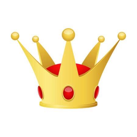 Golden crown vector design illustration isolated on white background Vektorgrafik