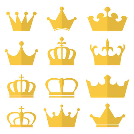 Royal crown vector design illustration isolated on white background