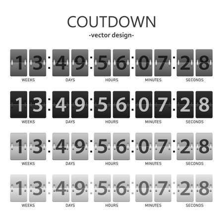 Countdown timer vector design illustration isolated on white background