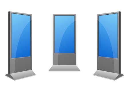 Digital kiosk vector design illustration isolated on white background