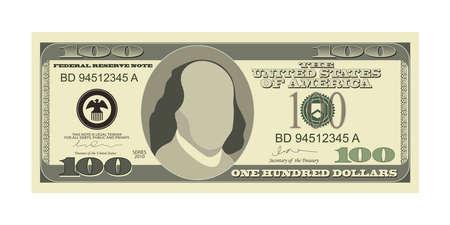 Dollar banknote vector design illustration isolated on white background Иллюстрация
