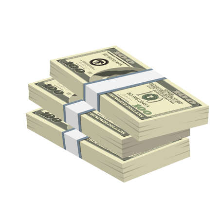 Pack of dollars money vector design illustration isolated on white background Иллюстрация