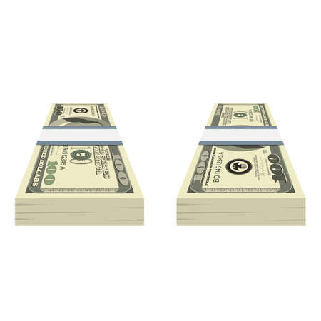 Pack of dollars money vector design illustration isolated on white background  イラスト・ベクター素材