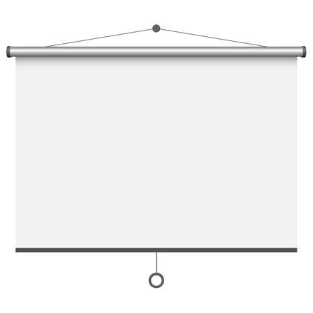 Empty projection screen vector design illustration isolated on white background  イラスト・ベクター素材