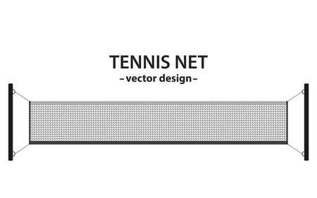 Tennis net vector design illustration isolated on white background