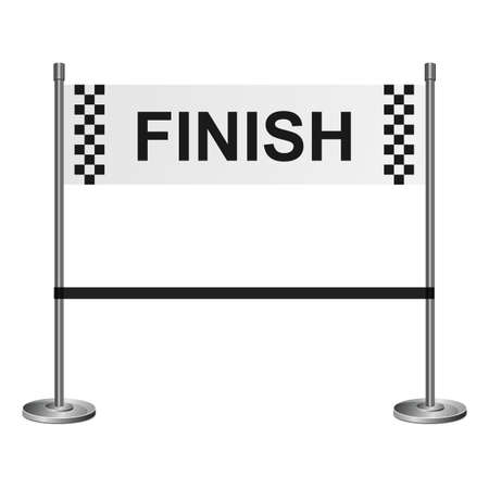 Finish line vector design illustration isolated on white background