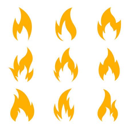 Fire icon vector design illustration isolated on white background Ilustración de vector