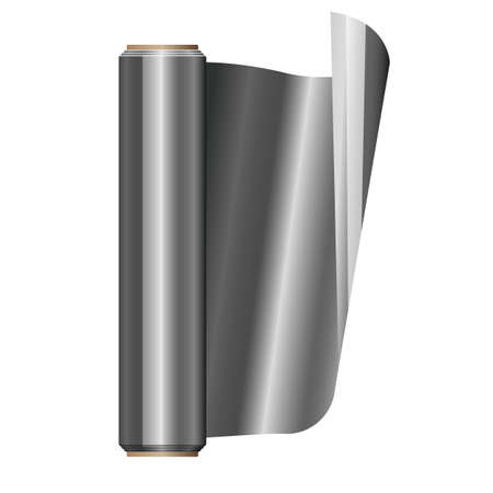 Roll of aluminium foil vector design illustration isolated on white background