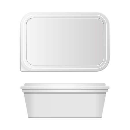 Plastic food container vector design illustration isolated on white background Vektoros illusztráció