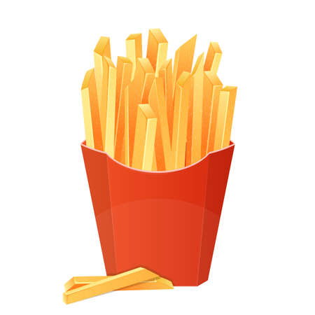 French fries vector design illustration isolated on white background