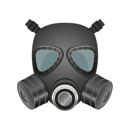 Gas mask vector design illustration isolated on white background