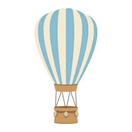 Hot air balloon vector design illustration isolated on white background