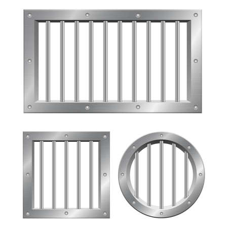 Prison window vector design illustration isolated on white background