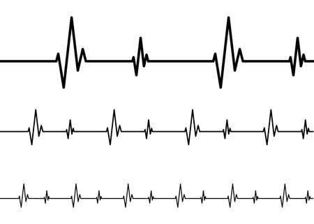 Heart rhythm vector design illustration isolated on white background Vettoriali