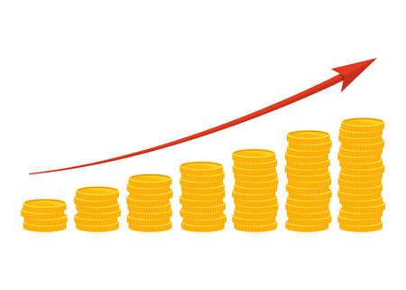 Income growth vector design illustration isolated on white background