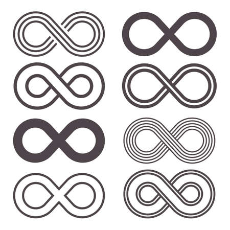 Infinity icon vector design illustration isolated on white background Illustration