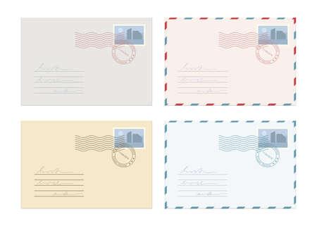 Mail envelope vector design illustration isolated on white background