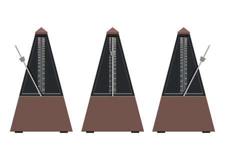 Metronome vector design illustration isolated on white background Vektorgrafik