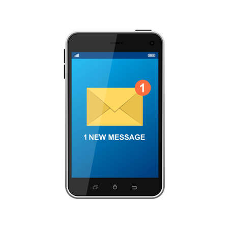 Incoming message vector design illustration isolated on white background Vetores