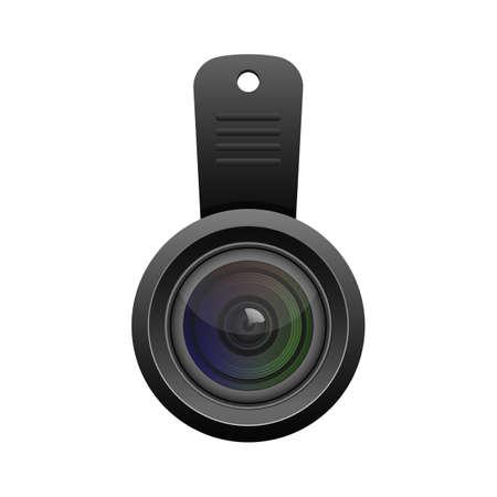Smartphone lens vector design illustration isolated on white background