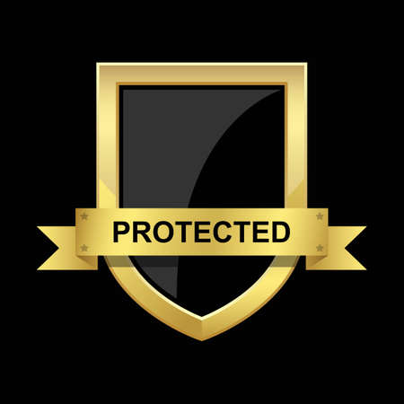 Protection shield vector design illustration isolated on background