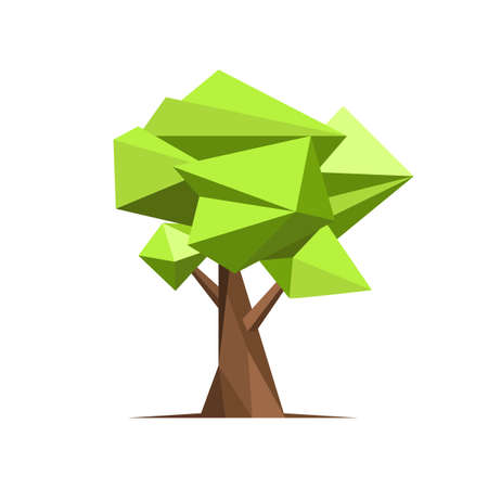 Abstract style tree vector design illustration isolated on white background