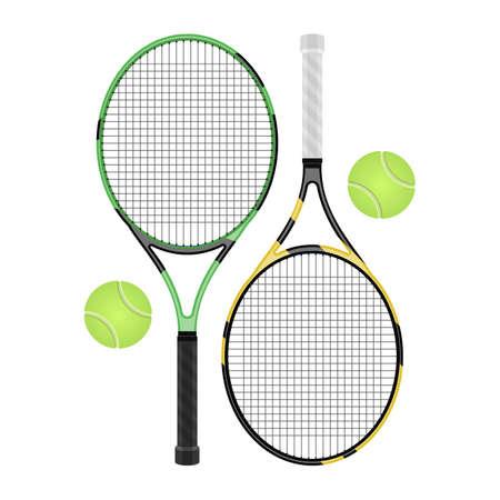 Tennis racket vector design illustration isolated on white background Vecteurs