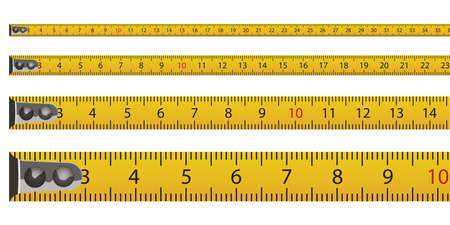 Tape measure vector design illustration isolated on white background Vettoriali
