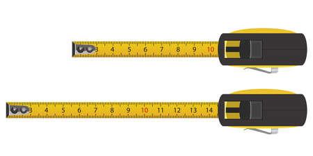 Tape measure vector design illustration isolated on white background