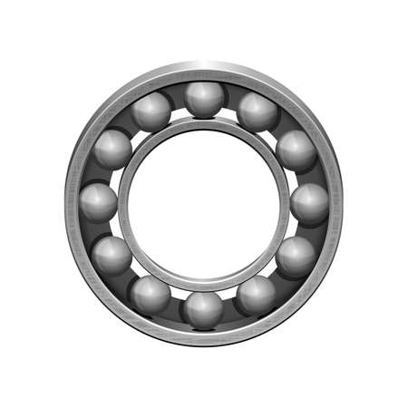 Realistic bearing vector design illustration isolated on white background