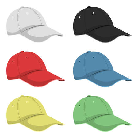 Cap vector design illustration isolated on white background