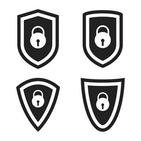 Protection shield vector design illustration isolated on white background