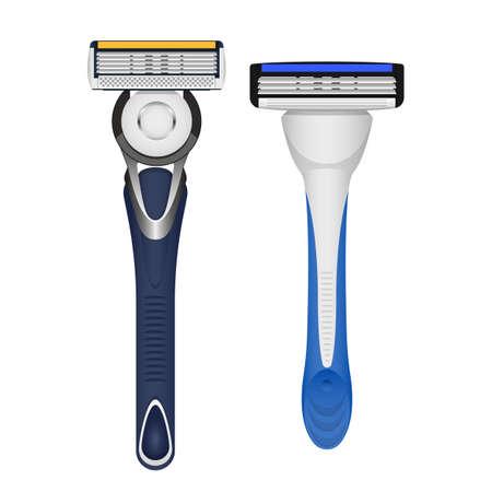 Shaving blade vector design illustration isolated on white background 矢量图像