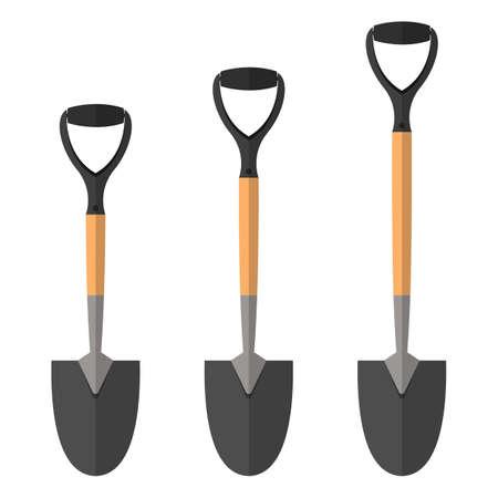 Shovel vector design illustration isolated on white background Ilustracje wektorowe