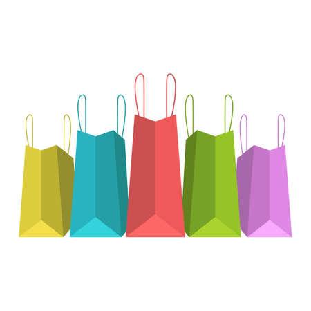 Shopping bag vector design illustration isolated on white background