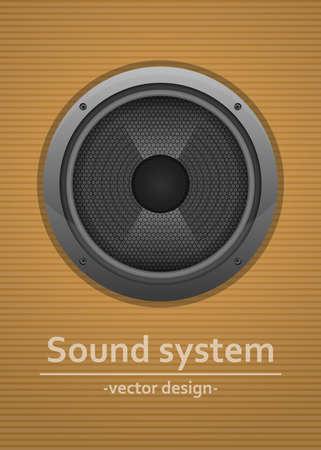 Audio speaker vector design illustration