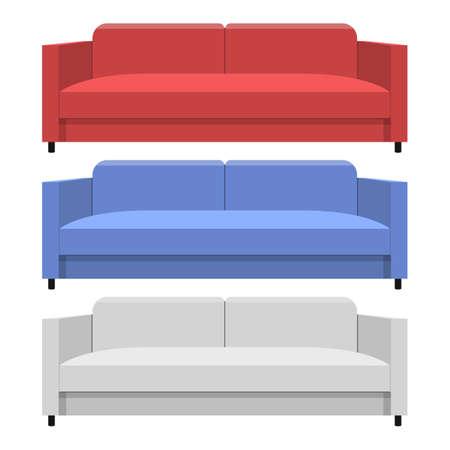 Sofa vector design illustration isolated on white background