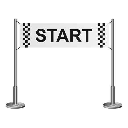 Start line vector design illustration isolated on white background