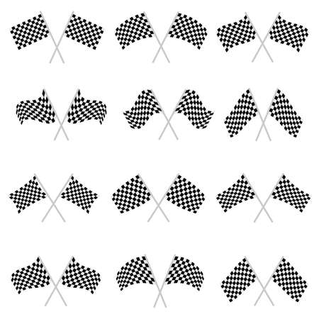 Racing flag vector design illustration isolated on white background Vettoriali