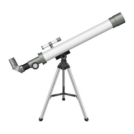 Telescope vector design illustration isolated on white background