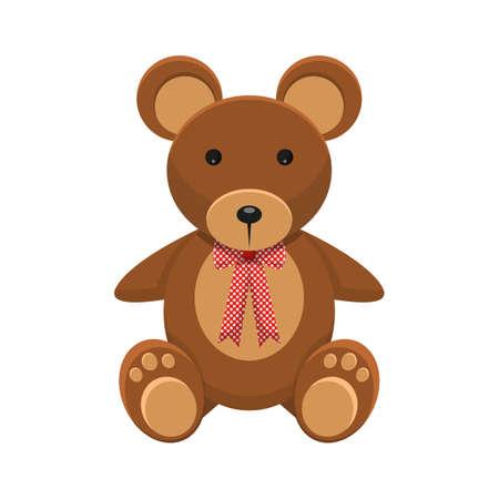 Teddy bear vector design illustration isolated on white background Vektoros illusztráció